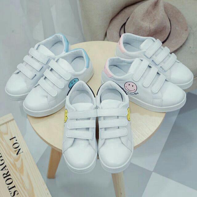 藍色35  韓國百搭魔鬼氈帆布鞋小白鞋閨蜜