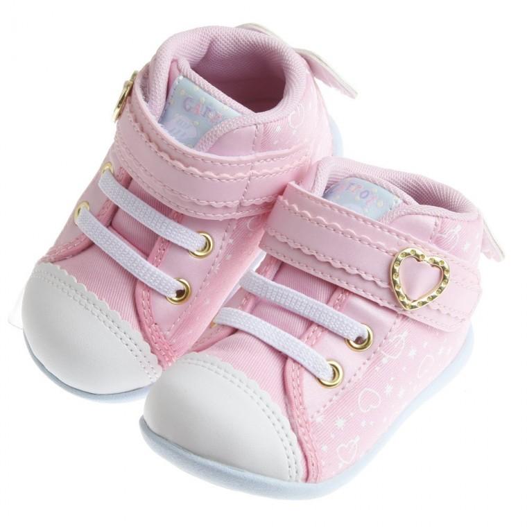~51 童鞋~Moonstar Carrot 粉色天使小翅膀寶寶機能學步鞋12 5 14