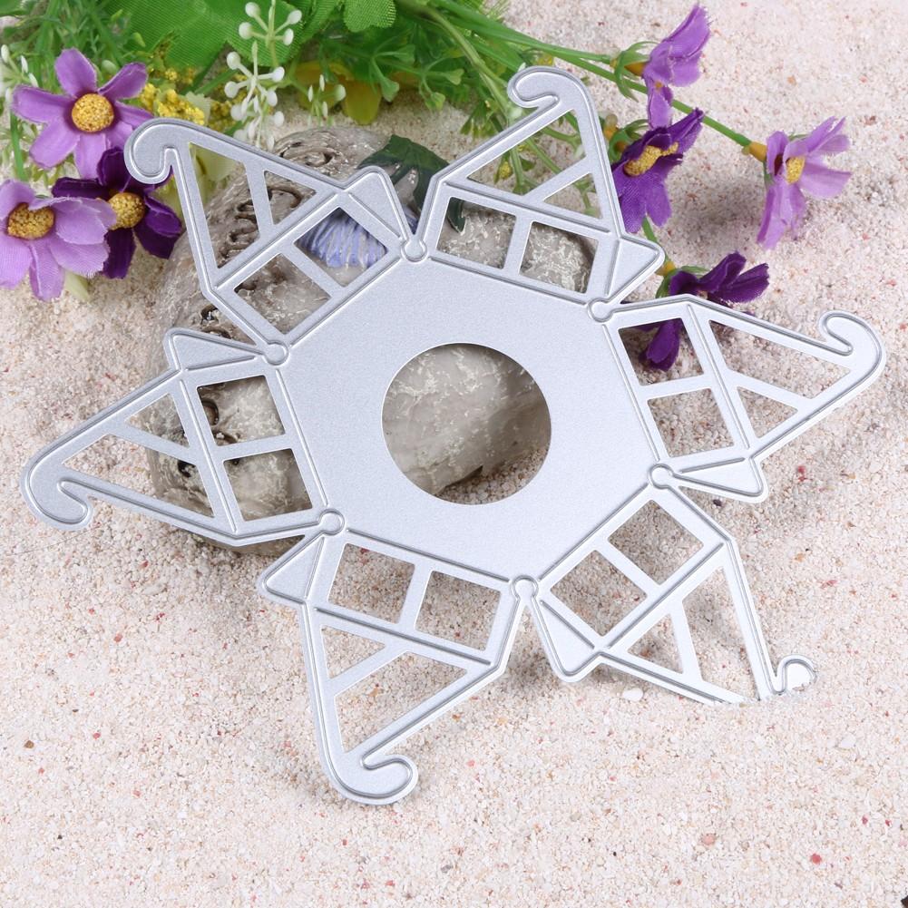 卡片剪紙卡可愛六角 盒糖果盒金屬切割模具婚慶度假裝飾鋼模具模切範本壓花範本