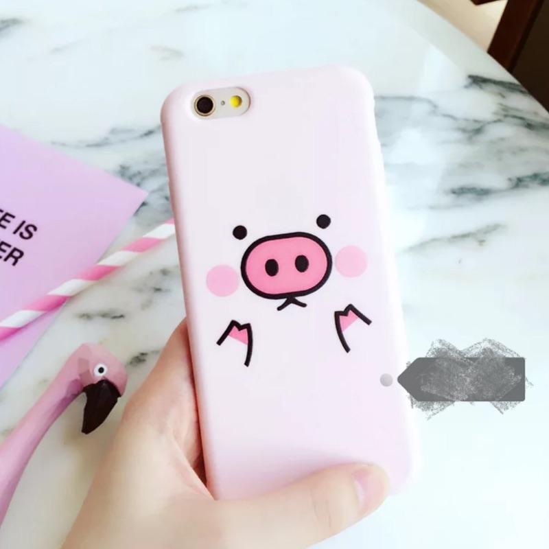 可愛豬豬手機ipone 軟殼iphone5 5se 6 6s plus 7 7plus