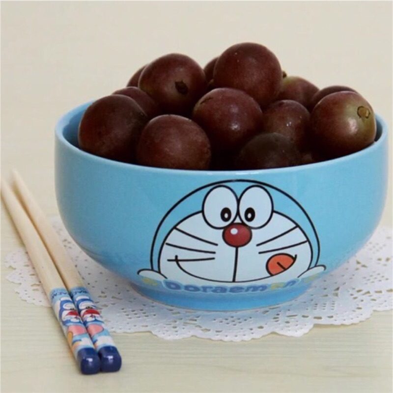 韓式hello kitty 哆啦a 夢陶瓷泡麵碗 可愛卡通大碗湯碗飯碗餐具12 公分寬口可