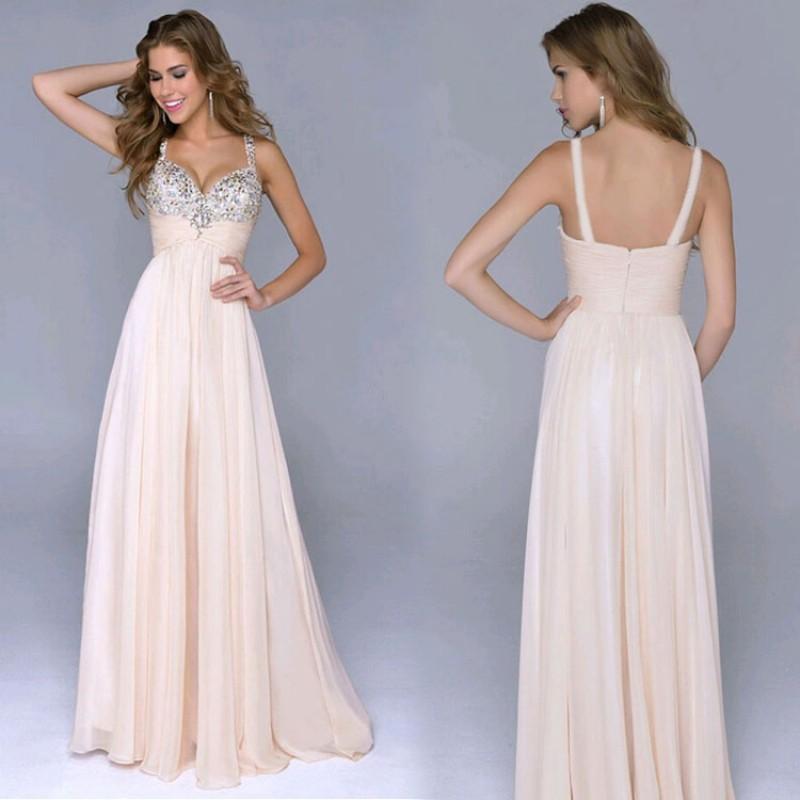 仙女裙優雅女性雪紡V 領亮片高腰長洋裝,派對晚禮服