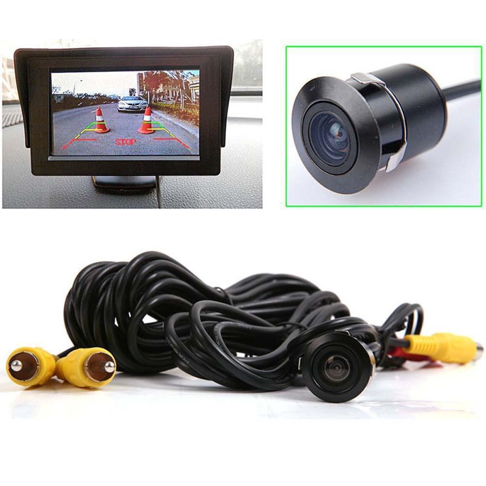 汽車後視鏡逆向備份相機170 °公分OS 防霧汽車後視鏡相機卡車迷你麵包車後視鏡相機附視頻