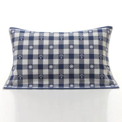 BabyFace ~三層紗料~地中海鄉村風 格紋藍粉枕巾舒適透氣不悶熱50 75