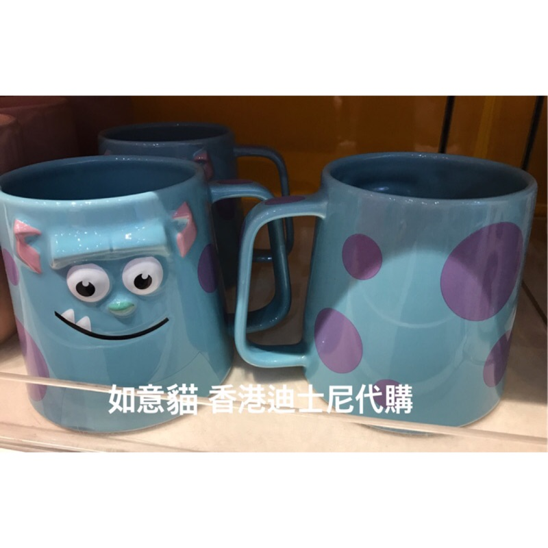 香港迪士尼 怪獸電力 毛怪馬克杯咖啡杯茶包杯立體 聖誕節(如意貓)
