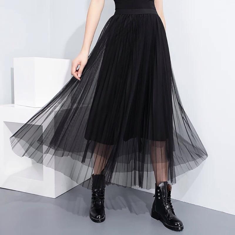 Y2 ™( )簡約氣質蕾絲紗裙內搭裙長裙長版連身衣裙▪️ 休閒寬鬆 大版中大 顯瘦修身 款
