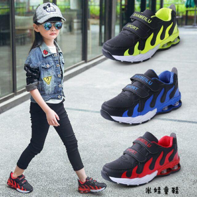 4 12 歲男童 鞋女童皮面休閒鞋 兒童防滑跑步鞋