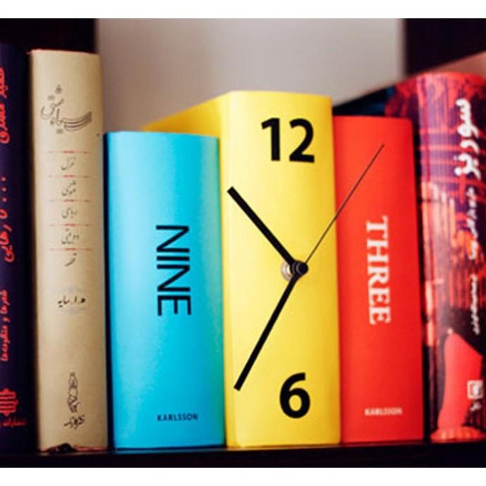 Karlsson 書本時鐘 書本鐘表書房擺飾複古書架鐘彩色款