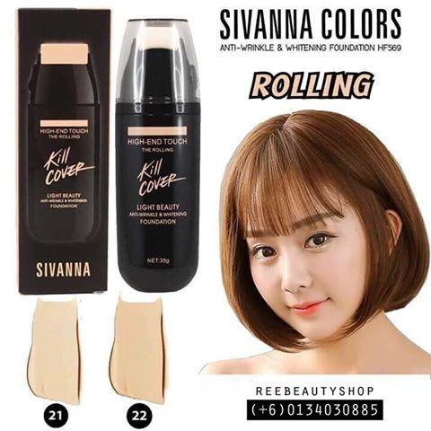 ☘泰國直送SIVANNA 液態滾輪式粉底液SPF25 PA 35g