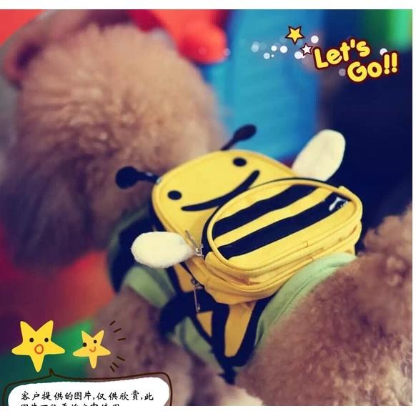 寵物自背的書包,透氣寵物自背包 PETSINN 黃色小蜜蜂狗自背書包