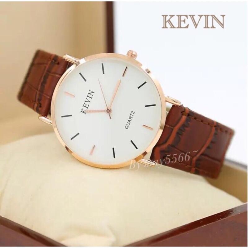 KEVIN 超薄休閒英倫風簡約 皮革學生錶男錶女錶閨密對錶情侶對錶(類似DW 錶款)