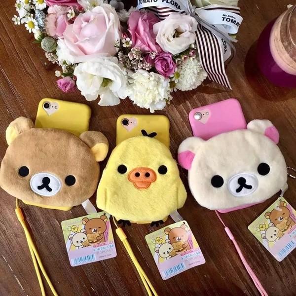 韓國拉拉熊小雞零錢包iphone6 7 手機殼