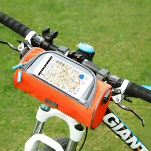 帶觸屏窗自行車 包單車手機包圓筒形