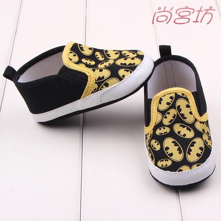 尚宮坊~黑色蝙蝠俠卡通圖案寶寶鞋學步鞋嬰兒鞋~A2240 ~
