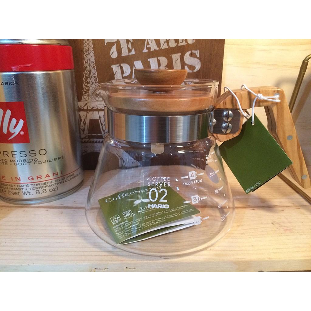 HARIO V60 橄欖木系列 製咖啡壺600ml VCWN 60 OV
