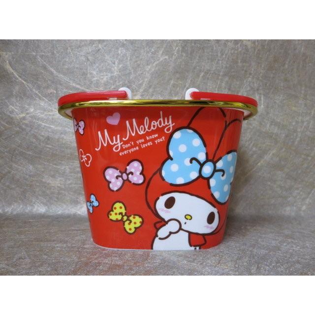 土城三隻米蟲Melody 美樂蒂迷你置物籃提籃垃圾桶收納
