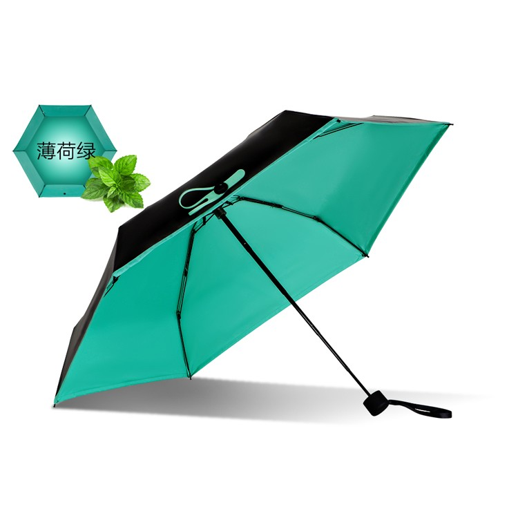 黑檸檬雙層黑膠傘薄荷綠