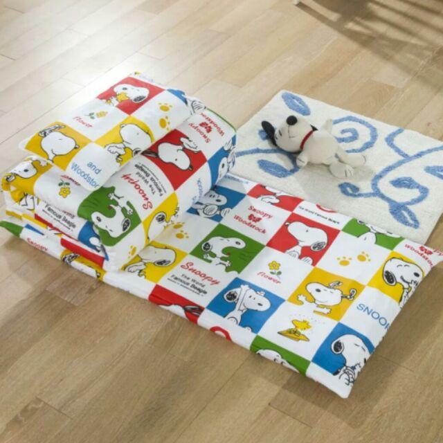 100 純棉史努比兒童、嬰兒床床墊、枕頭、被子幼兒園