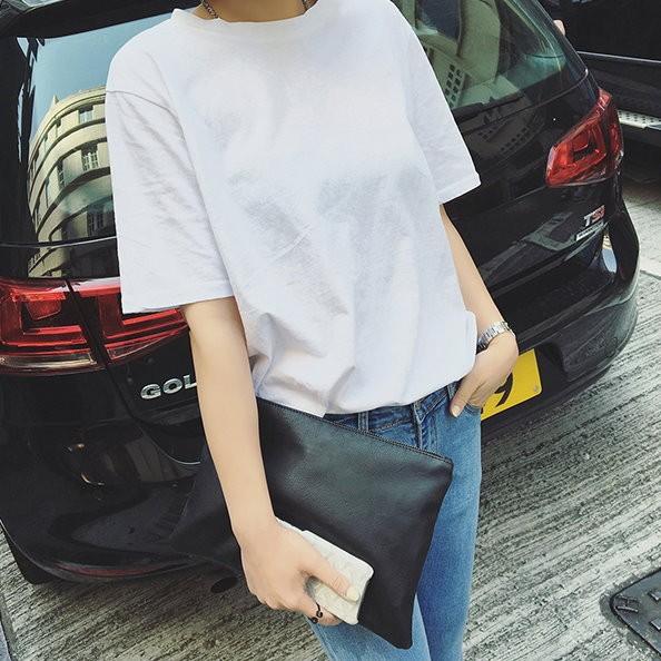 ❤ ❤圓領短袖女子T 卹純色打底衫短袖修身 女裝寬鬆女款 潮