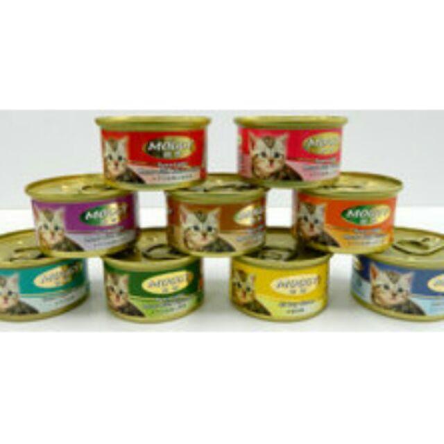 汪喵寶貝MOGGY 妙奇貓罐九種口味可混搭450 元箱24 罐