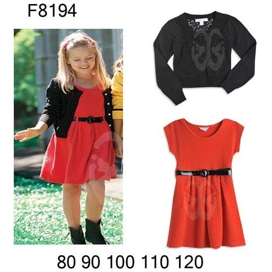 女童春秋連衣裙套裝長袖針織衫連衣裙出口單 風格