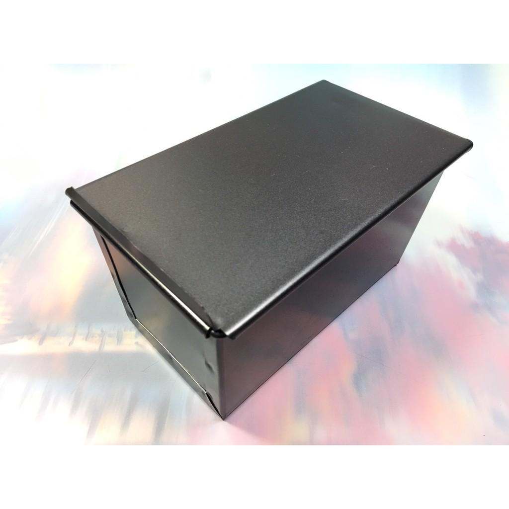 ~NG 烘焙黑色不沾有蓋吐司模250g ~NO135 長方形帶滑蓋面包模具土司盒烤箱用