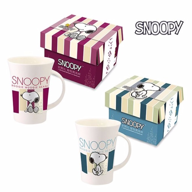 SNOOPY 史努比音悅馬克杯湯杯新骨瓷情侶對杯340ml SP A017E SP A01