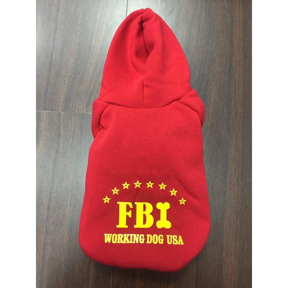id116 FBI 帽T 風連帽寵物 服狗狗衣兩腿fbi 寵物用品連帽春夏棉質警犬