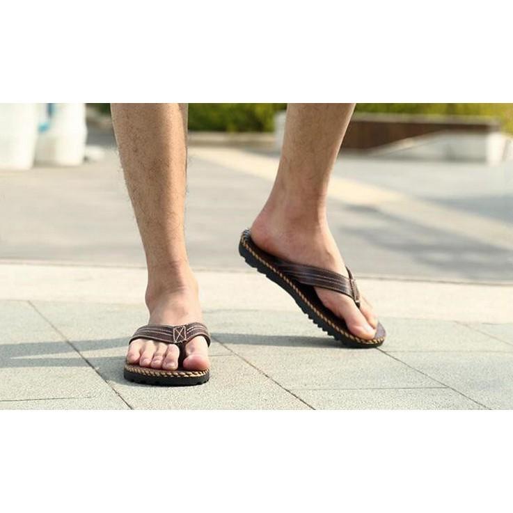 〖Beauty 韓國 服飾〗 男士沙灘涼鞋 夾腳人字拖英倫 戶外鞋簡約防滑拖鞋