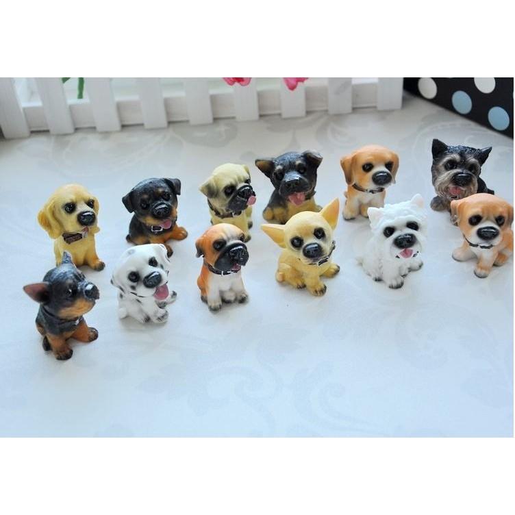 ~J J LOZ ~小型DIY 小木屋材料包模型屋袖珍屋娃娃屋 擺飾動物狗狗12 隻一套2