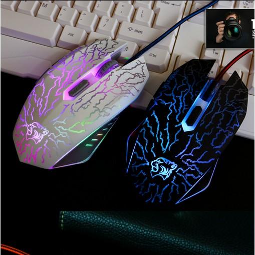電競發光USB 有線滑鼠CF LOL 電競遊戲滑鼠 級炫彩電競光學滑鼠