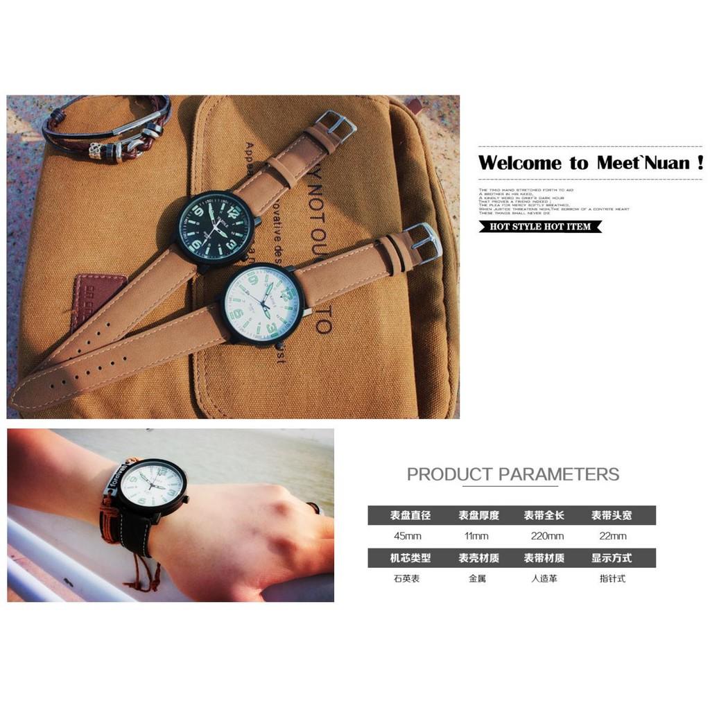 簡約 韓款簡單筆畫風格大框數字手錶夜光學院風學生電子手表情人生日送禮