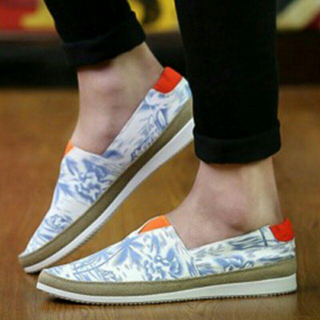 印花懶人鞋深藍色淺藍色好搭可正式可休閒風格