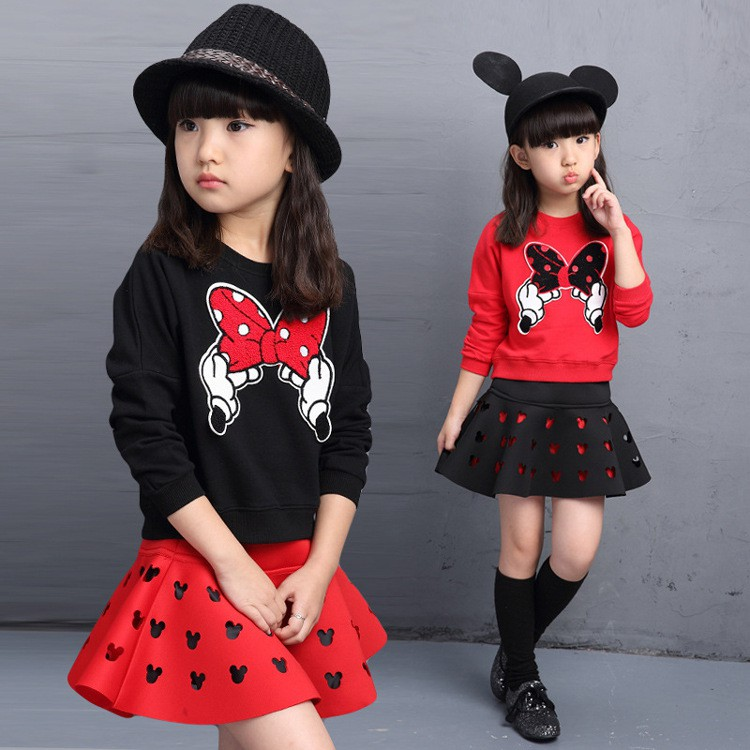 女童套裝_  中大童女童 繡花裙兩件套