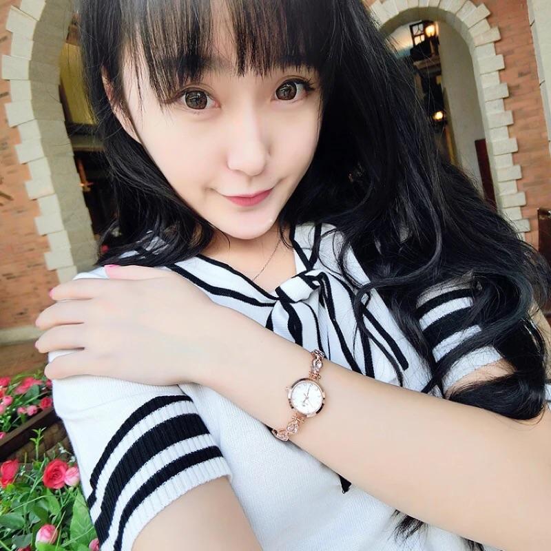 女士手錶女韓國 潮流女錶正品女手錶 水鑽石英表手鍊表女式
