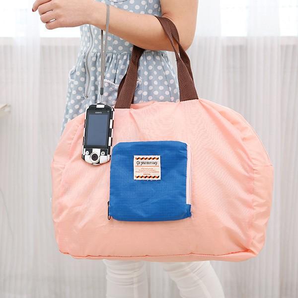 FUN 日雜好想旅行趣折疊收納包行李袋旅行收納袋超大 袋粉色