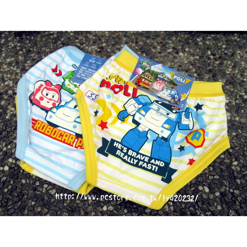 搬館大 POLI 波力男童100 純棉三角褲內褲2 件入SS XXL 90 140cm 製
