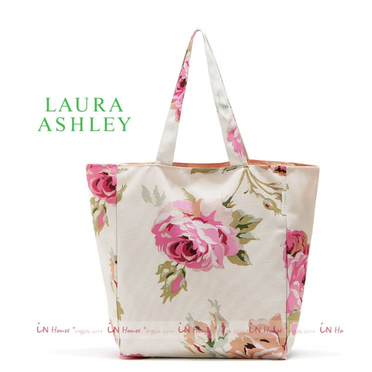IN House 雜誌附錄LAURA ASHLEY 英倫古典玫瑰印花手提袋肩背包 袋