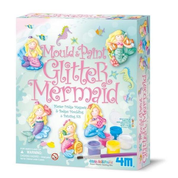 美人魚公主製作磁鐵Mould Paint Glitter Mermaid 擁有可愛的童話故