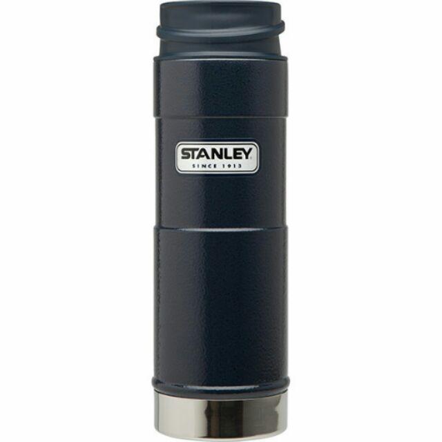 美國Stanley 0 47L 16oz 真空不鏽鋼保溫瓶 單手咖啡杯n 錘紋藍