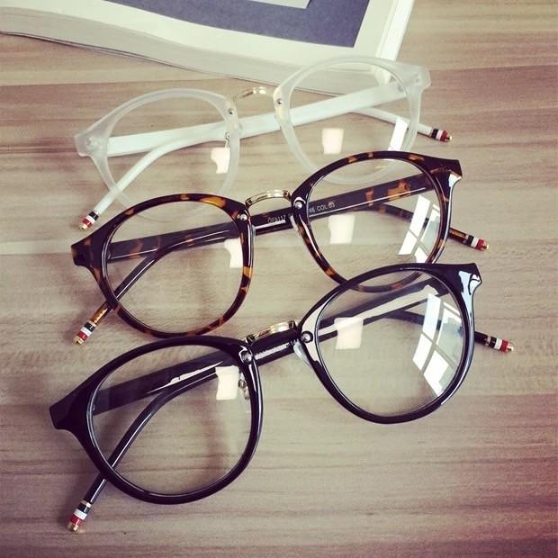 韓國ulzzang 復古眼鏡框女可配近視鏡小圓框眼鏡 眼鏡架男潮圓形超輕平光鏡范冰冰