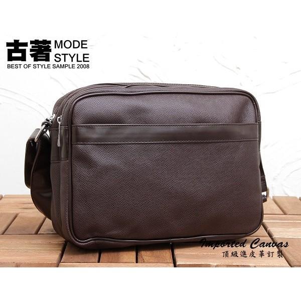 ~LL1327 ~日韓雜誌款吉田風格側背包顆粒紋皮革斜背包多夾層