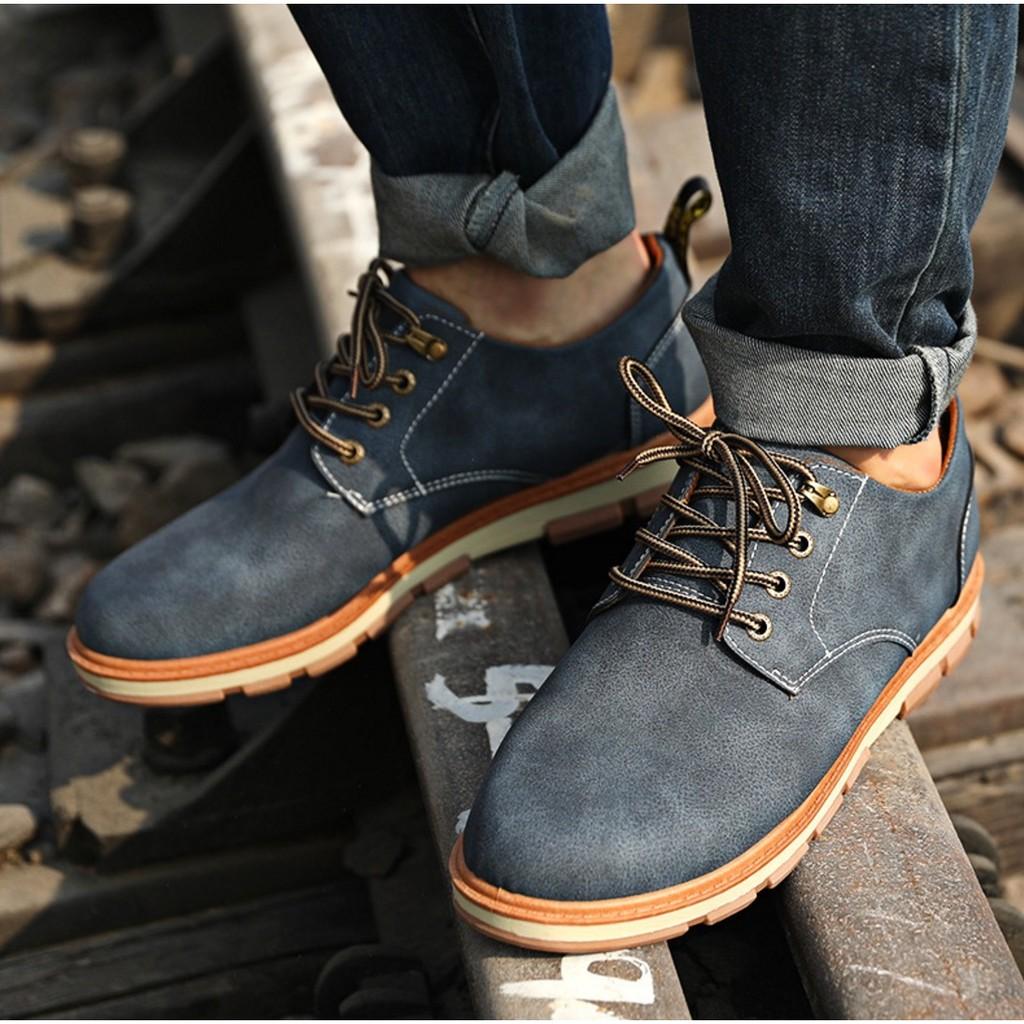 大頭皮鞋英倫男鞋子工裝鞋男士休閒鞋復古厚底S323