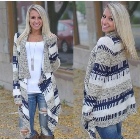 女士長袖針織羊毛衫寬鬆毛衣外套
