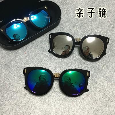兒童太陽鏡男童眼鏡墨鏡潮防紫外線 韓國親子款小孩寶寶眼睛女