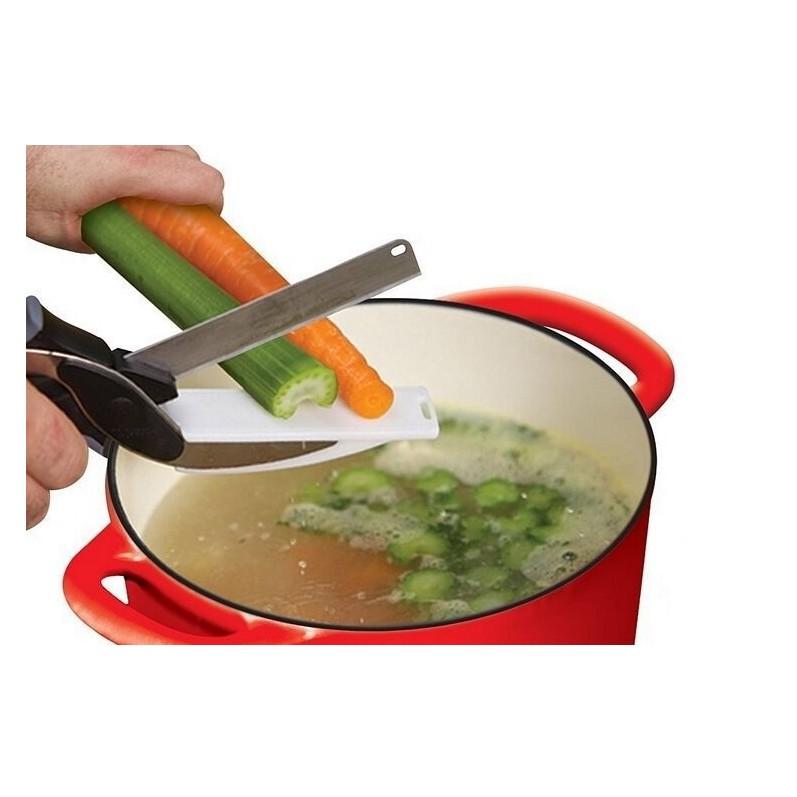 不銹鋼蔬菜剪刀便利智慧剪剪刀砧板二合一