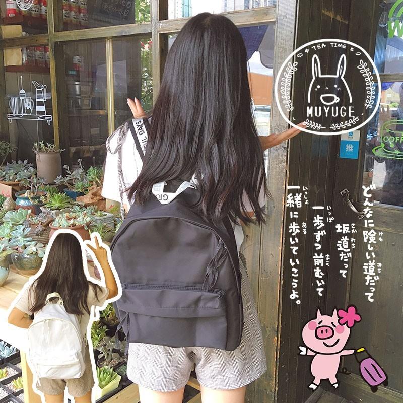 ~忠孝東路的小巷~新品 中!韓國 潮流英文字母百搭純色雙肩背包軟妹情侶書包男女後背包雙肩包