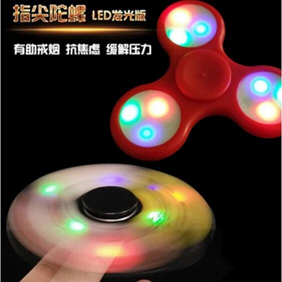 美國Hand Spinner 夜光指尖陀螺蝙蝠指尖陀螺夜光手指减压蝙蝠陀螺创意EDC 玩具