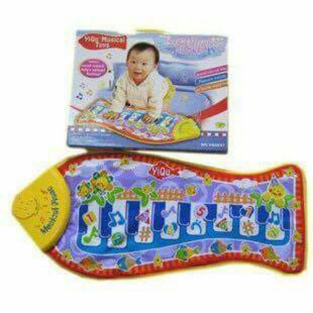 寶寶魚形觸摸琴遊戲墊爬行地毯