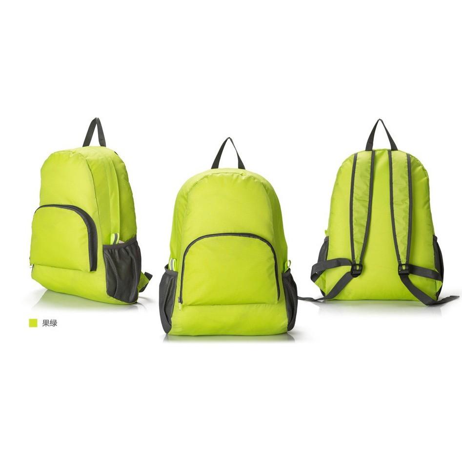 戶外旅行雙肩登山包防水尼龍可折疊糖果色 雙肩包雙背登山包